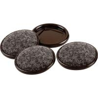 Everbilt 2 in. Metal Furniture Cups with Carpet Base (4 ...