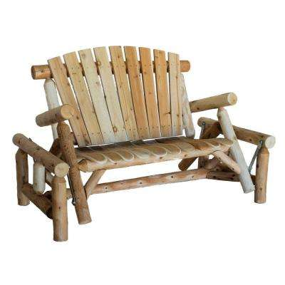 rustic outdoor chairs rio beach chair backpack gliders patio the home depot glider with contoured seat slats