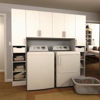 Modifi Horizon 90 in. W White Tower Storage Laundry ...