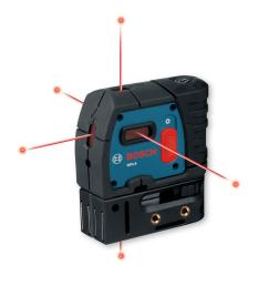 bosch 100 ft 5 point self leveling plumb and square laser [ 1000 x 1000 Pixel ]