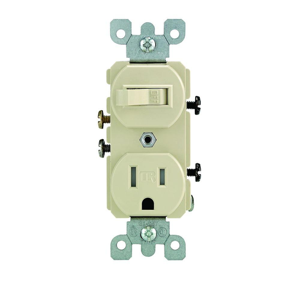 hight resolution of leviton 15 amp tamper resistant combination switch and outlet ivory