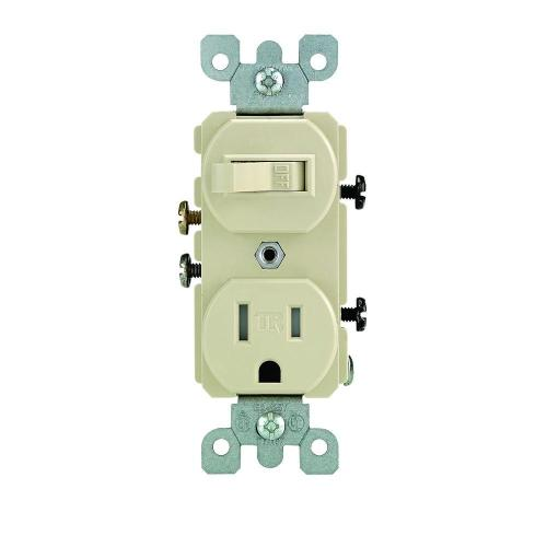 small resolution of leviton 15 amp tamper resistant combination switch and outlet ivory