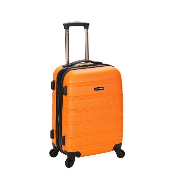 Rockland Melbourne 20 In. Expandable Carry Hardside Spinner Luggage Orange-f145-orange
