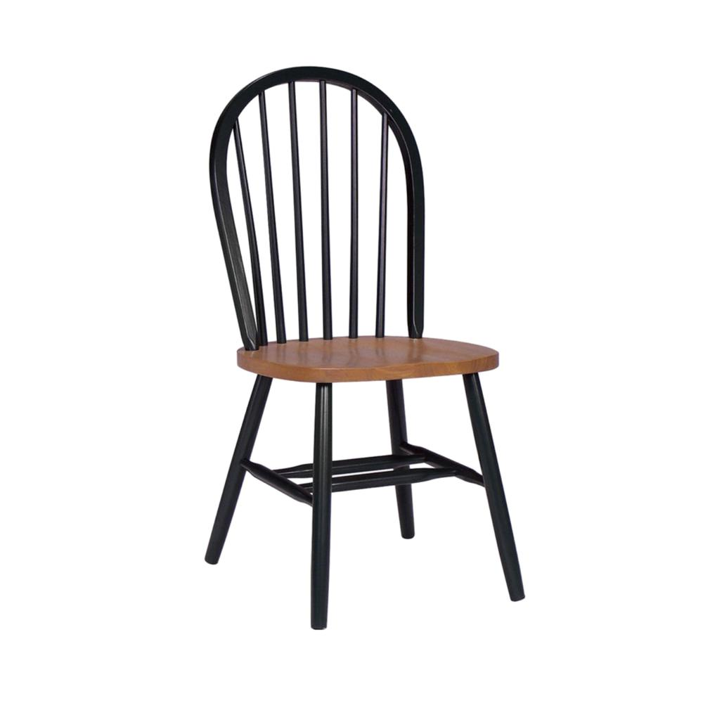 Windsor Chairs Black Black And Cherry Wood Spindle Back Windsor Dining Chair