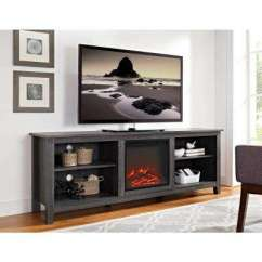Tv Stands For Living Room Wall Decors Special Values Furniture The Home Depot Wood Media Stand Console With Fireplace Charcoal