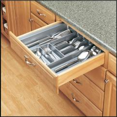 Kitchen Tray Remodel Ideas Pictures Rev A Shelf Extra Large Glossy Silver Cutlery Drawer Insert New