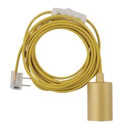 novogratz 1 light mellow yellow plug in exposed socket pendant [ 1000 x 1000 Pixel ]