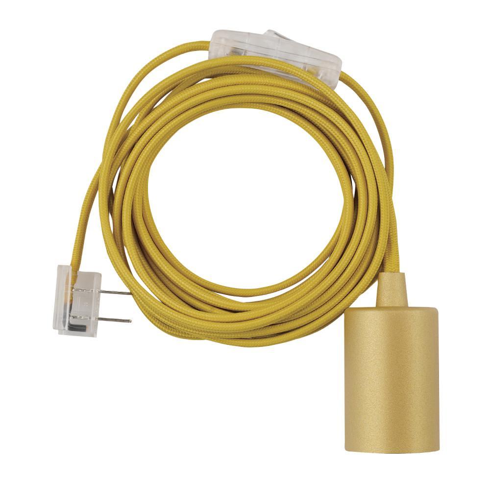 hight resolution of novogratz 1 light mellow yellow plug in exposed socket pendant