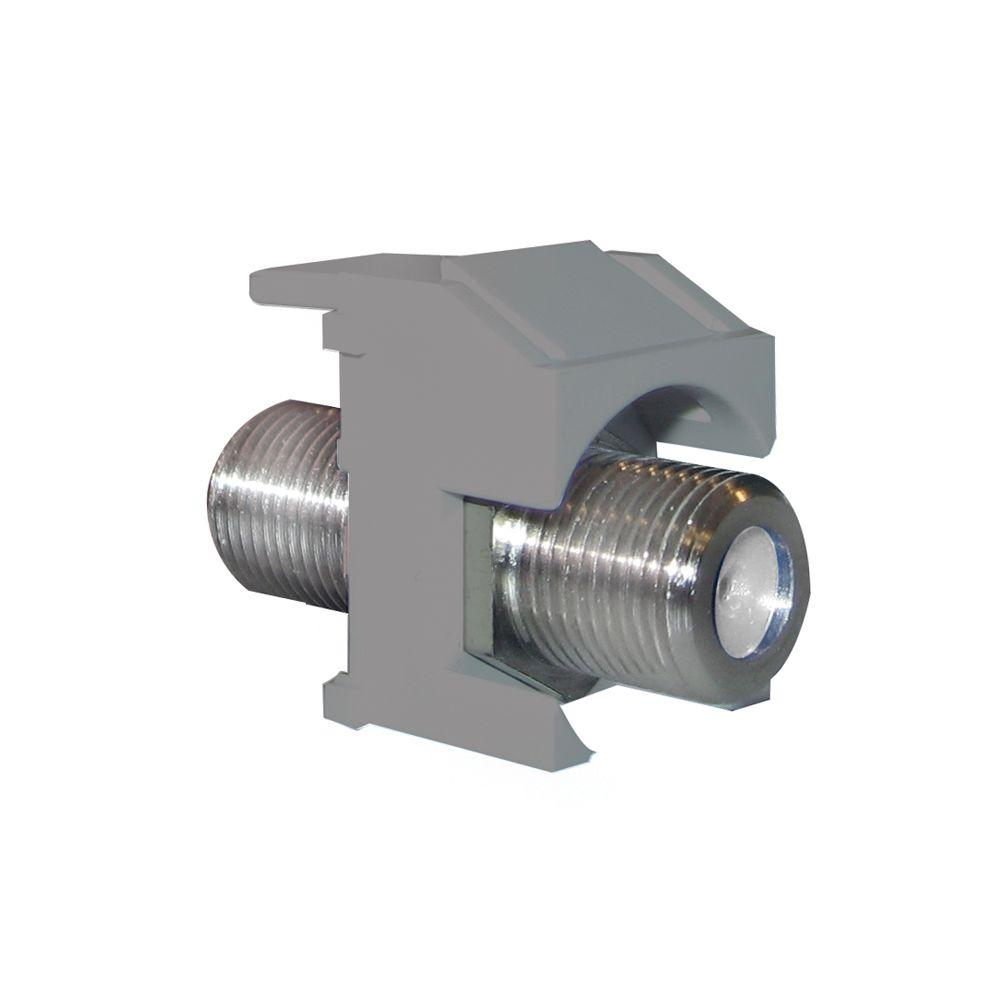 hight resolution of keystone nickel recessed f connector magnesium