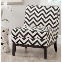 Black And White Accent Chairs With Arms Herman Miller Shell Chair Safavieh Armand Zig Zag Linen Cotton Mcr1006d The Home Depot