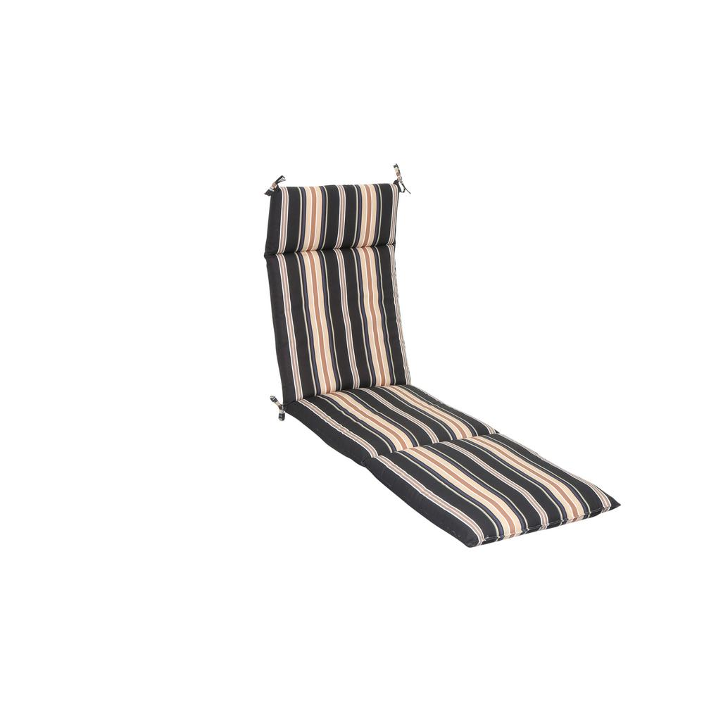 Hampton Bay Caprice Stripe Outdoor Chaise Lounge Cushion
