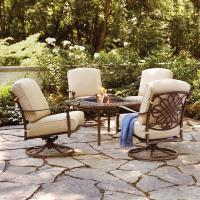 Hampton Bay Cavasso 5-Piece Aluminum Outdoor Patio Fire ...