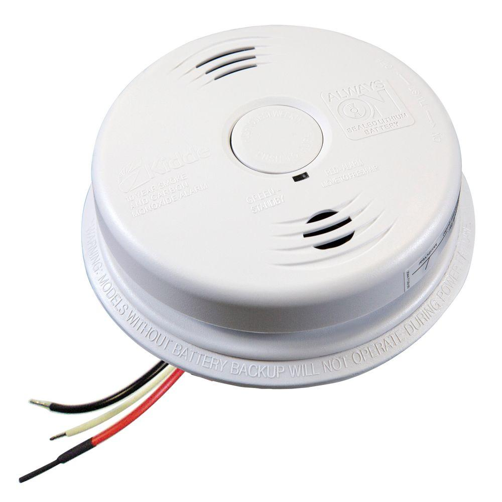 hight resolution of kidde worry free hardwire smoke and carbon monoxide combination detector with 10 year battery backup