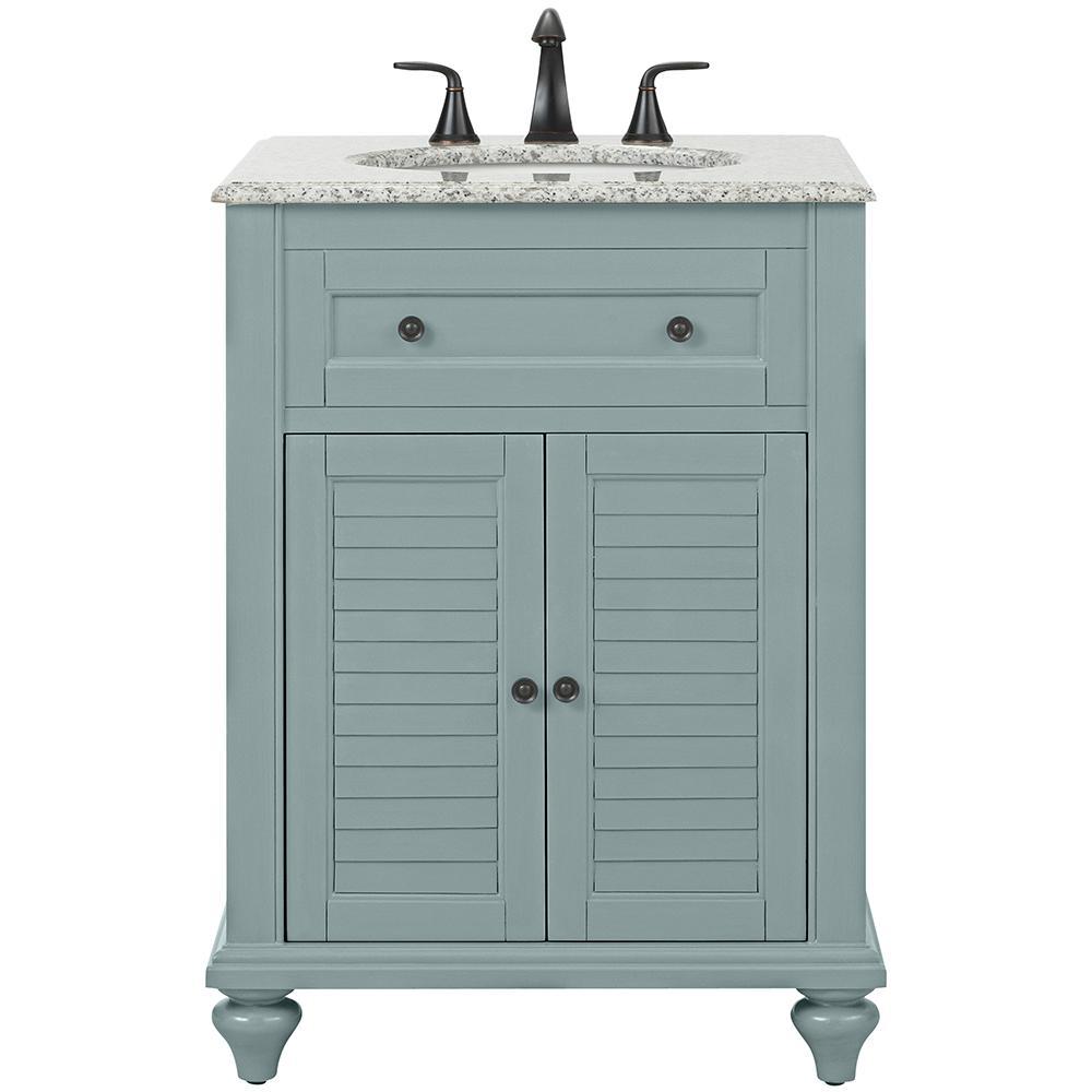 Blue 24 Inch Vanities Bathroom Vanities Bath The Home Depot