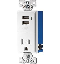 eaton 15 amp decorator usb charging electrical outlet white cooper wiring devices rep copper wiring devices [ 1000 x 1000 Pixel ]