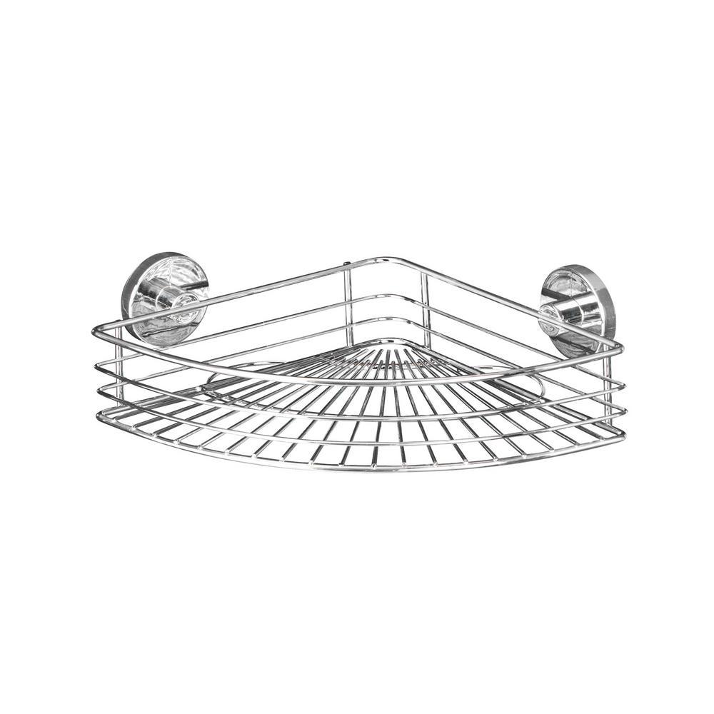 Wenko Vacuum Loc Bari Corner Shelf in Chrome-20887100