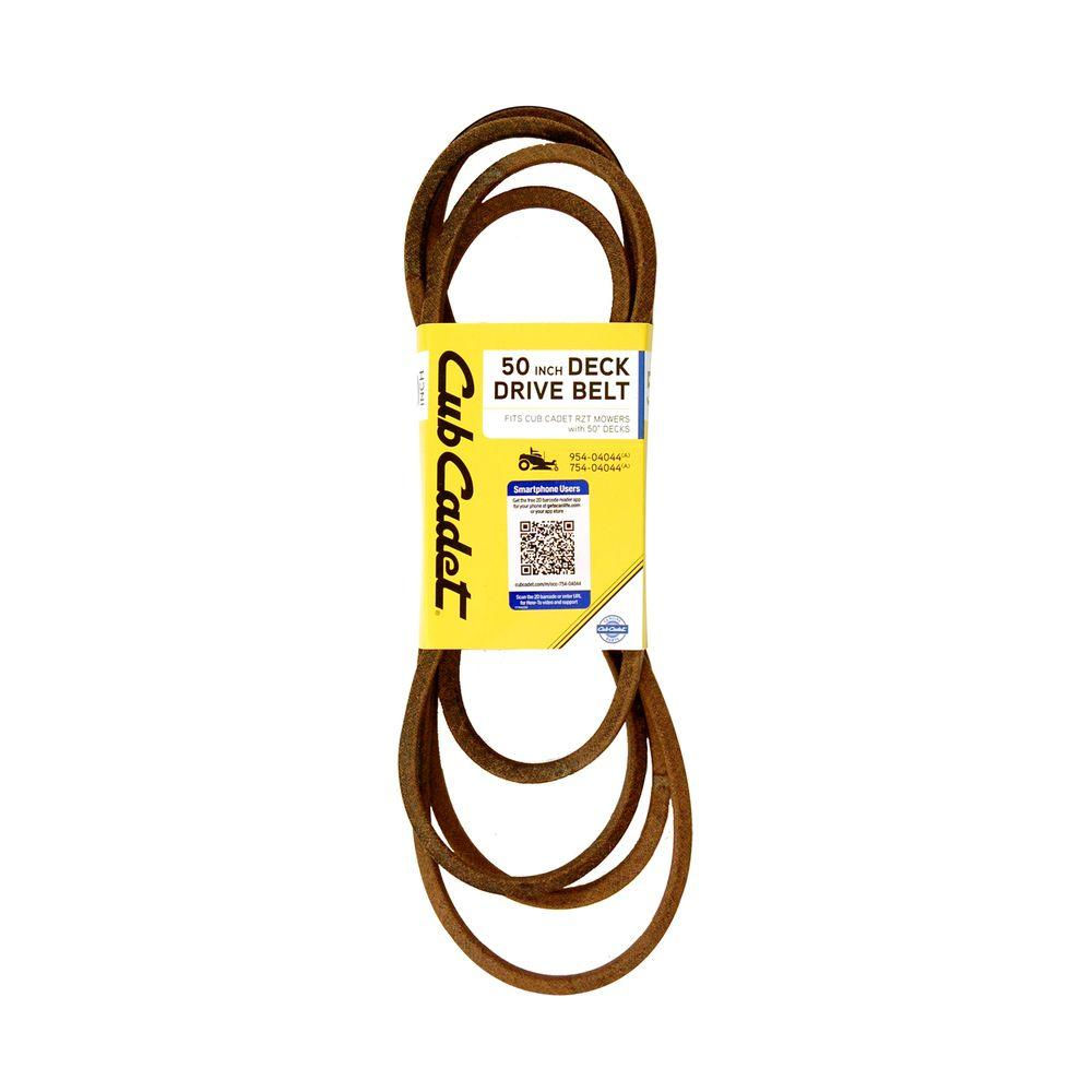 medium resolution of cub cadet 50 in deck drive belt for select rzt mowers