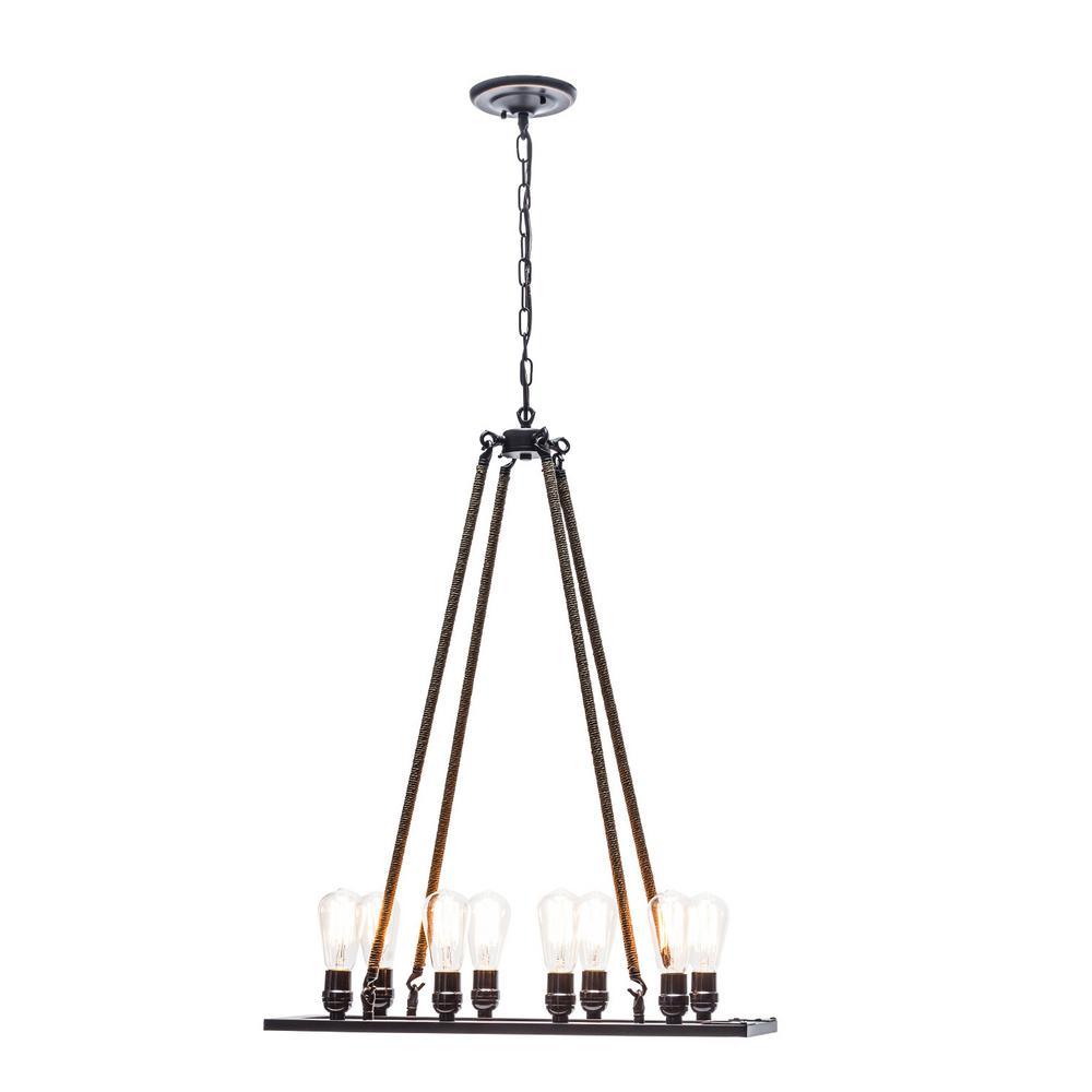 Feiss Lumiere 4-Light Dark Weathered Oak/Oil-Rubbed Bronze