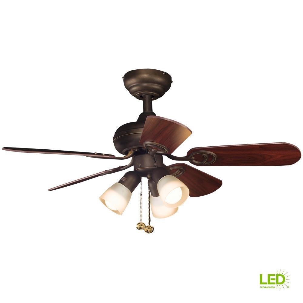 hight resolution of hampton bay san marino 36 in led indoor oil rubbed bronze ceiling fan with light