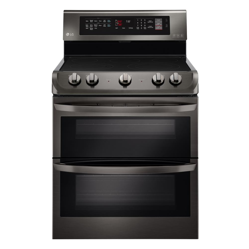 hight resolution of lg electronics 7 3 cu ft double oven electric range with probake convection self