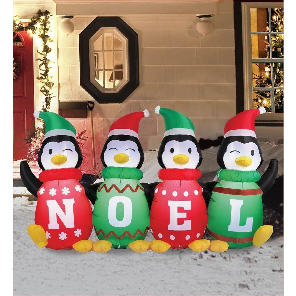 Airflowz 6 ft Inflatable Sweater Penguins56871  The Home Depot