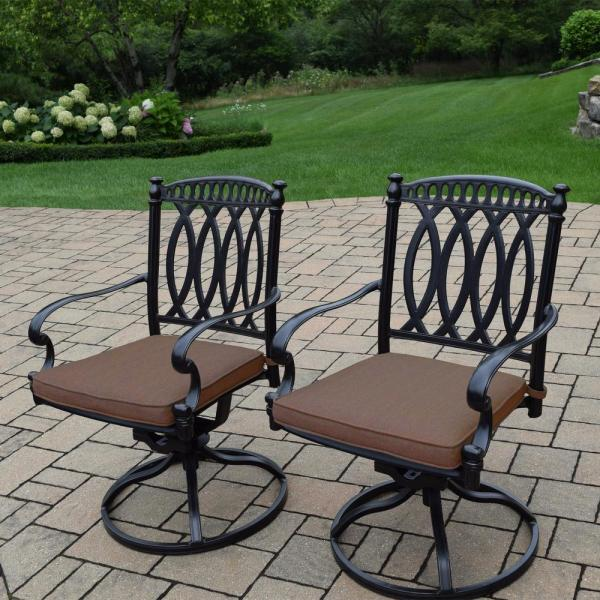 Hampton Bay Spring Haven Brown -weather Wicker Outdoor Patio Swivel Rocking Chair With Sky