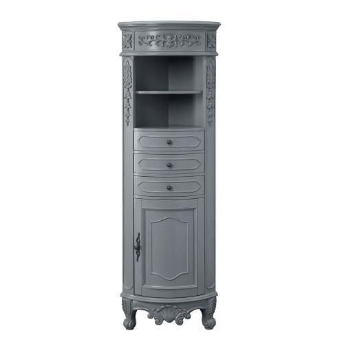 small resolution of h single door linen cabinet in antique gray