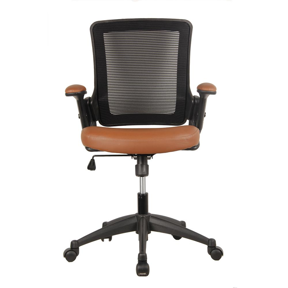 office chair height oversized wingback techni mobili brown mid back mesh task with adjustable arms