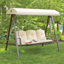 Hampton Bay Cunningham 3-person Metal Outdoor Swing With