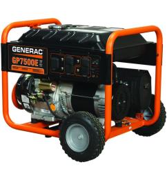7 500 watt gasoline powered electric start portable generator [ 1000 x 1000 Pixel ]