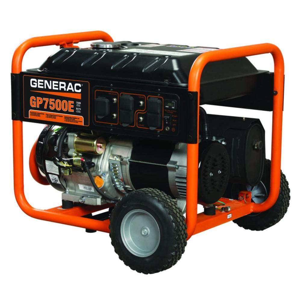 hight resolution of 7 500 watt gasoline powered electric start portable generator