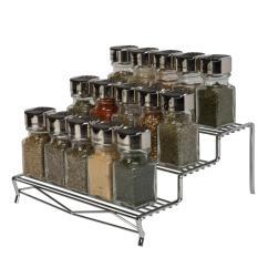Kitchen Spice Rack Rv Cabinets Details Geode 3 Tier In Chrome 23381 Chr The