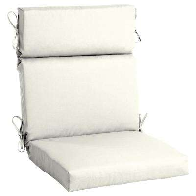 white cushion chair office chairs uk outdoor cushions the home depot 21 5 x 20 sunbrella canvas high back dining