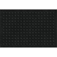 Chair Mat Home Depot Sears Canada Covers Trafficmaster Black 24 In X 36 Fiber And Rubber Commercial Door