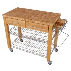 Kitchen Work Station Cost Of New Chris And Chef Series Natural With Chop Drop Wire Basket