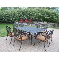 Oakland Living Cast Aluminum 9-Piece Square Patio Dining ...