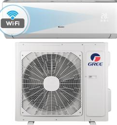 gree livo 18 000 btu 1 5 ton wi fi programmable ductless mini splitlivo 18 000 btu 1 5 ton wi fi programmable ductless mini split air conditioner with  [ 1000 x 1000 Pixel ]