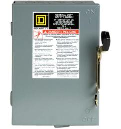 30 amp 240 volt 2 pole 3 phase fused indoor general duty safety [ 1000 x 1000 Pixel ]