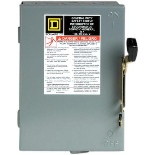 small resolution of 30 amp 240 volt 2 pole 3 phase fused indoor general duty safety