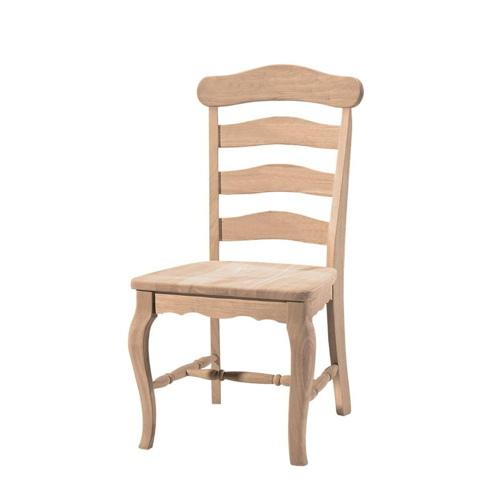 Kitchen Chairs Wood International Concepts Unfinished Wood Dining Chair Set Of 2 C