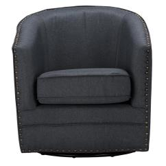 Tub Accent Chair Grey Slipper Baxton Studio Porter Contemporary Gray Fabric Upholstered
