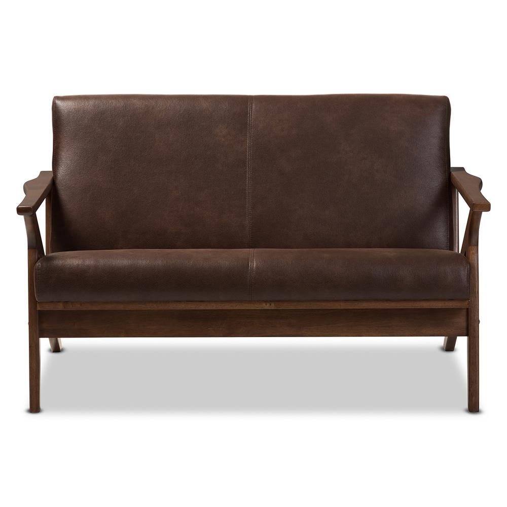 bianca futon sofa bed review black living room pictures baxton studio dark brown walnut faux leather loveseat write a