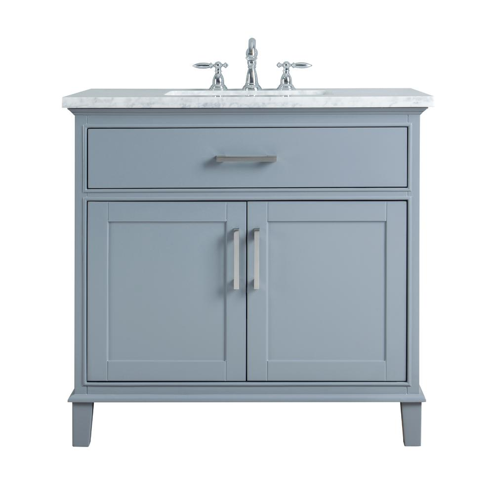 stufurhome 36 in Leigh Single Sink Bathroom Vanity in