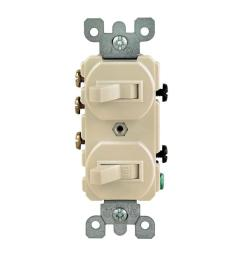 leviton 15 amp 3 way double toggle switch ivory [ 1000 x 1000 Pixel ]