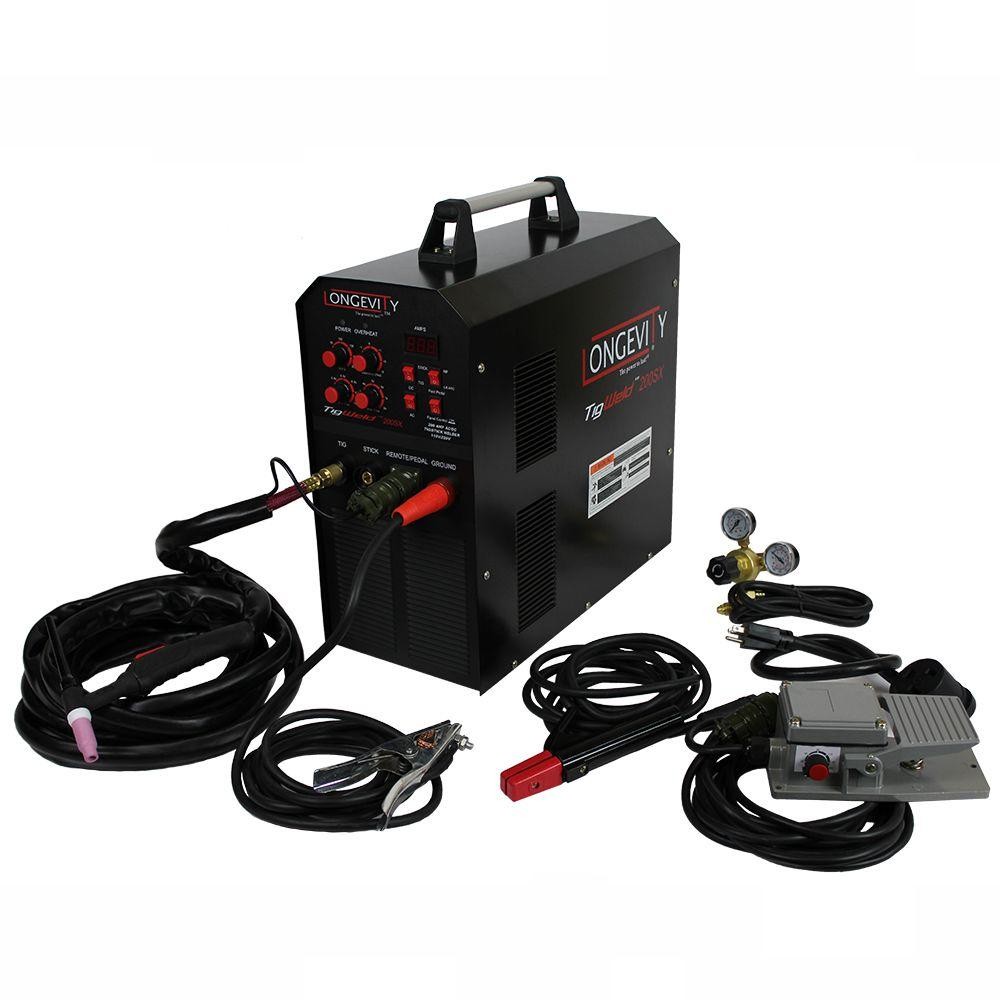 medium resolution of longevity tigweld 200sx 200 amp tig welder with dual voltage technology