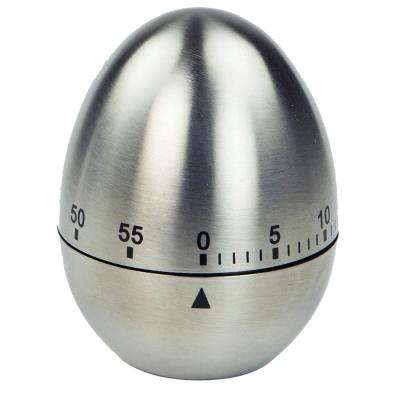 kitchen timer colorful rugs timers thermometers the home depot silver egg