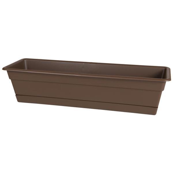 Bloem Dura Cotta 24 In. Chocolate Plastic Window Box
