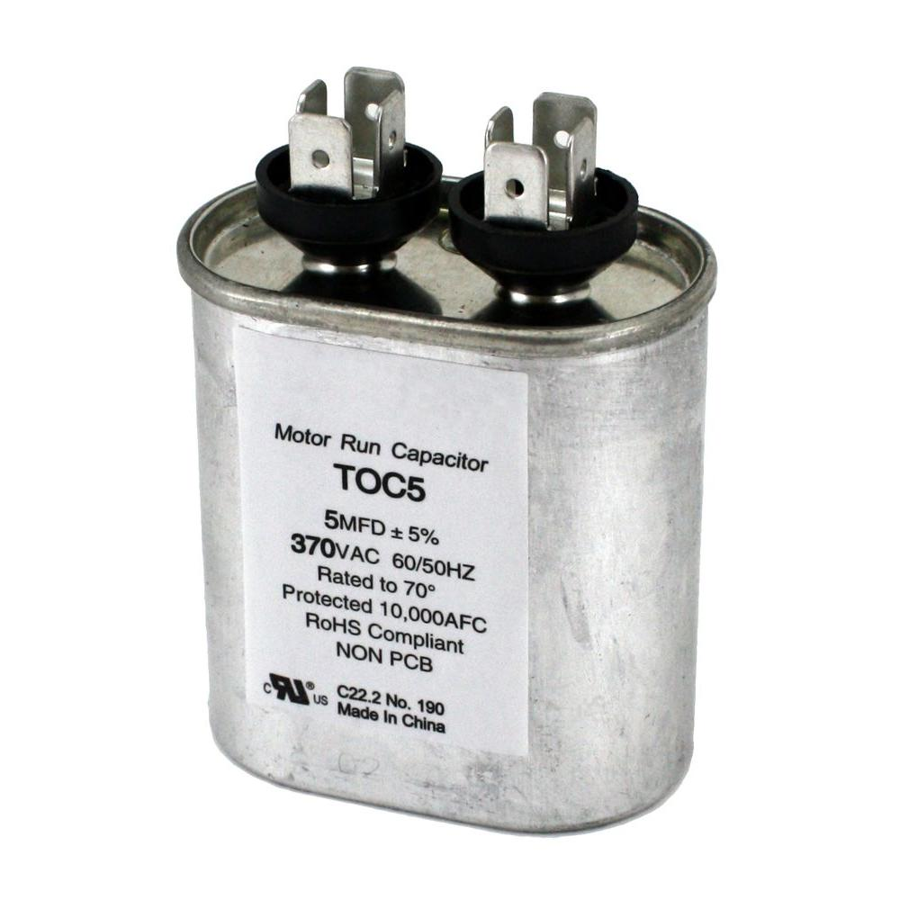 wiring diagram for furnace blower motor alt packard 370-volt 5 mfd run oval capacitor-toc5 - the home depot