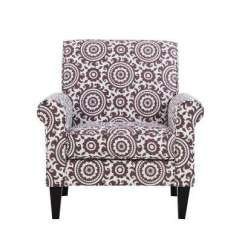 Purple Accent Chair Loose Covers For Queen Anne Chairs The Home Depot Jean Amethyst And Cream Medallion Arm