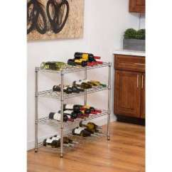 Kitchen Wine Rack Cabinet Hutch Racks Dining Room Furniture The Home Depot Ecostorage